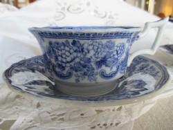Antik angol fajansz Cauldon teáscsésze alátéttel