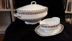 Altrohlau leveses és szószos porcelán