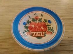 Antik Hollóházi kemény cserép fali dísz tányér