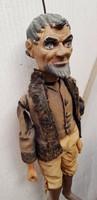 Antik marionett bábú