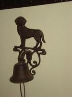 Aranyos öntöttvas kutyás csengő kolomp eladó karácsonyi vacsorára  hívó