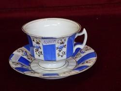 Német porcelán teáscsésze + alátét.