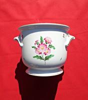 Herendi virágos porcelán kaspó