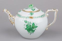 Herendi zöld Apponyi mintás teáskanna