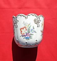 Hollóházi kézzel festett kaspó