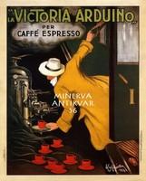 Victoria Arduino espresso kávé reklám, Leonetto Cappielo 1922 Vintage/antik plakát reprint