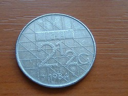 HOLLAND 2-1/2 2,5 GULDEN 1984 #