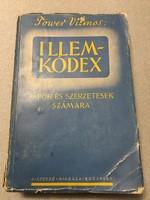 RITKASÁG!! TOWER Vilmos: Illemkódex papok és szerzetesek számára. I.-II. kötet