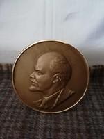 Bronz Lenin,jelzett szignózott darab!