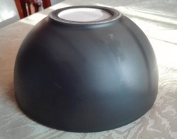 Fekete kerámia tál, kínáló, 18,5  cm átmérőjű