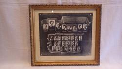 Üvegezett arany - fa képkeret falc 21x25 cm
