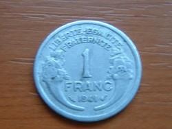 FRANCIA 1 FRANC FRANK 1941 ALU. #