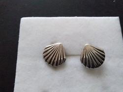 Antik ezüst kagyló fülbevaló