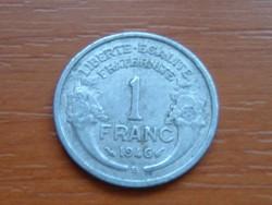 FRANCIA 1 FRANC FRANK 1946 / B ALU. #