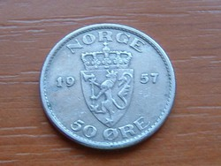 NORVÉGIA 1 KORONA 1957 #