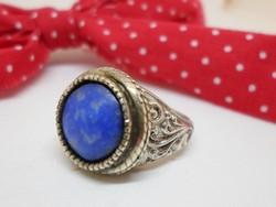 Csodás antik valódi lápiszköves ezüstgyűrű