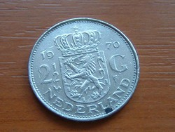 HOLLAND 2-1/2 2,5 GULDEN 1970 #