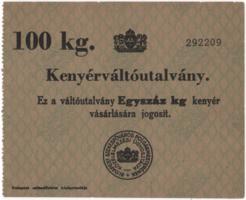 Kenyérváltó utalvány 100 kg