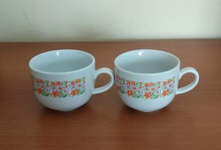 2 db jelzett, Zsolnay (retro, virágmintás) porcelán bögre párban eladó