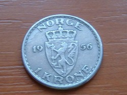 NORVÉGIA 1 KORONA 1956 #