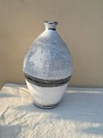 Mázas antik olajtaro 38,5cm népi cserép kocsog, régiség váza