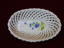 Fonott szélű porcelán ékszertartók, kézi festésű, négy különböző