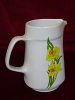Alföldi porcelán vizes kancsó, sárga virággal.