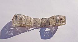 Filigrán 17 cm. kerületű, 1,4 cm. széles, Real Eibar karkötő