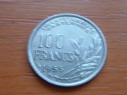 FRANCIA 100 FRANCS FRANK 1955 / B #