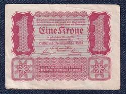 Ausztria 1 Korona 1922 Helmut Freulich felülbélyegzéssel / id 10731/