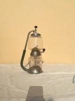 Lombik látvány kávéfőző, antik uveg kávé fozo, népi régiség konyhai dísztargy régi tárgy