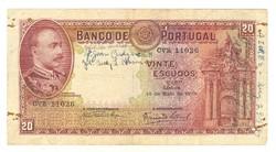 20 escudo escudos 1938 Portugália Ritka