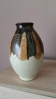 Retro csorgatott kerámia váza eladó!