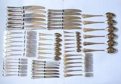 6 személyes ezüst evőeszközkészlet.