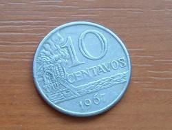 BRAZÍLIA BRASIL 10 CENTAVOS 1967 CUNI. #