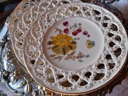 Antik 1880 Schütz Cilli áttört mintás tányér