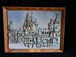 Urbán Teréz kerámia falikép