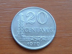 BRAZÍLIA BRASIL 20 CENTAVOS 1970 CUNI. #