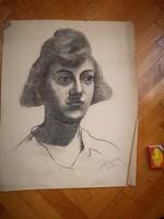 Havalda Endre kréta, ceruza, kréta, pasztell 1930 körül a Nemzeti Szalon kiállításain szerepelt