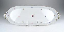 0Y372 Régi Zsolnay süteményes kínáló tálca 44.5 cm