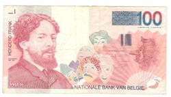 100 frank francs 1989-2001 Belgium
