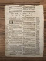 1615 Robert Baker biblia lap certifikáttal