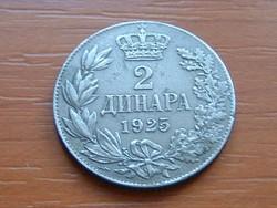 SZERB HORVÁT SZLOVÉN KIRÁLYSÁG 2 DINÁR 1925 (p) #