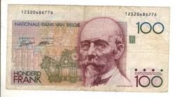 100 frank francs 1989-92 Belgium 1.
