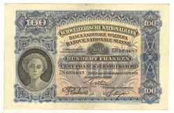 100 frank franken 1926 Svájc