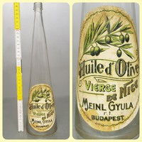 """Meinl Gyula r.t. Budapest"" címkés olívaolajos üveg (884)"