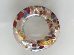 Muránói medál, arany és ezüstlemezekkel díszített, 4,5 cm átmérő