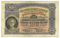 100 frank franken 1924 Svájc
