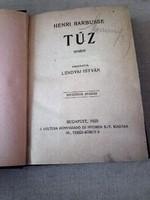 Antik könyv  kiadás : 1920. -   Henri    Barbusse    A tűz  -   világirodalom