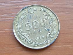 TÖRÖK 500 LÍRA 1989 #